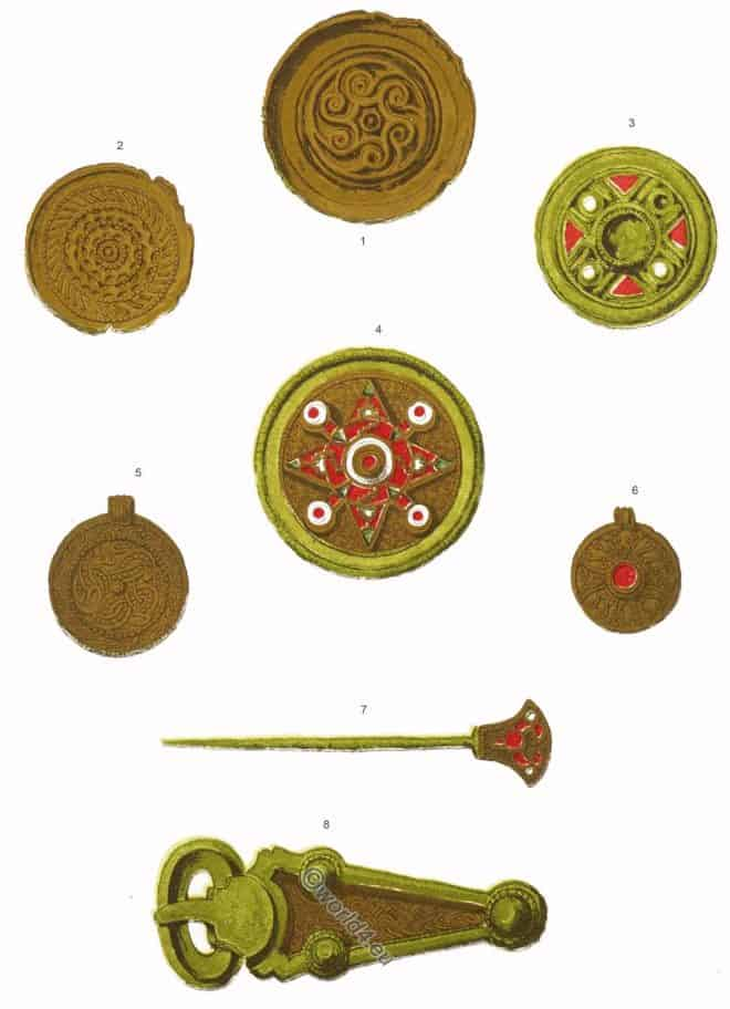 Anglo Saxon, Fibula, Buckle, Pin, ornaments