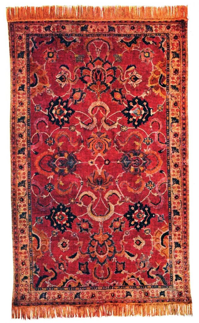 India, 17th century, Rug, Carpet, Indo-Persian, Ballard Collection,