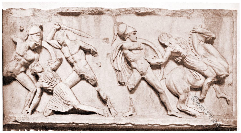 Combats, Greeks, Amazons