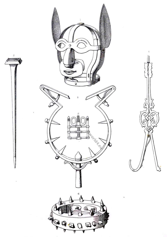 Implements, torture, corporal, punishment,
