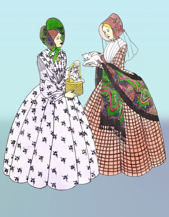 Crinoline, Victorian, fashion,