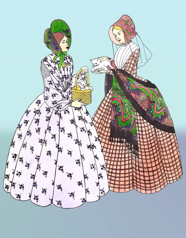 Crinoline, Victorian, fashion,