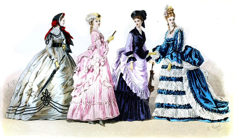 crinoline, Fashion, Empire, france, Napoleon III.