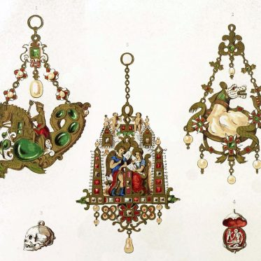 Jewels, renaissance, Sea-horse, Death's Head, skull
