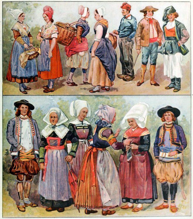 France, Folk, costumes,