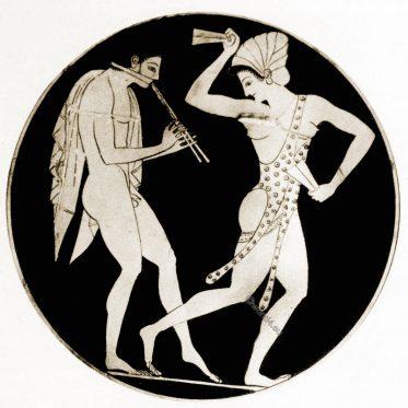 Ancient, Vase painting, Epictetus, Greek, dancing, girl,