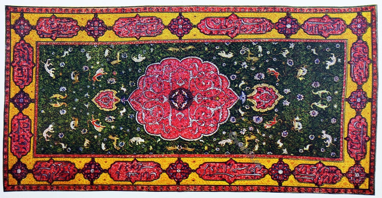 Antique, Oriental, Carpet, 15th century, Royal Persian, rug