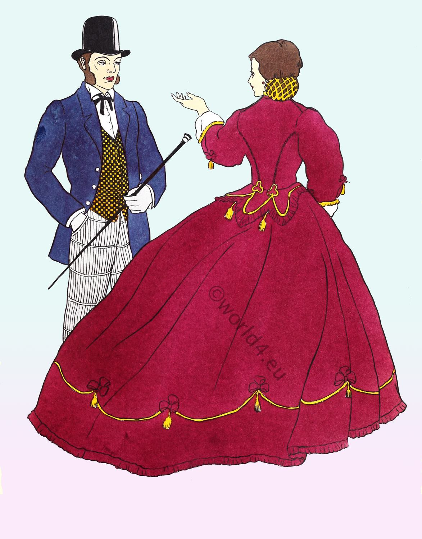 crinoline, outfit, fashion, Victorian ,