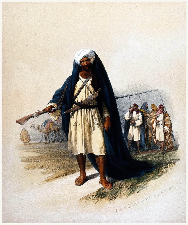 David Roberts, Arabs, dress,