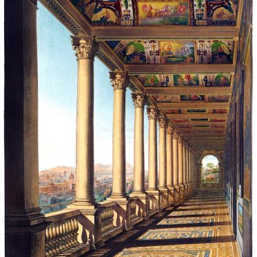 Damaso, Court, Raphael, Vatican, floor gallery
