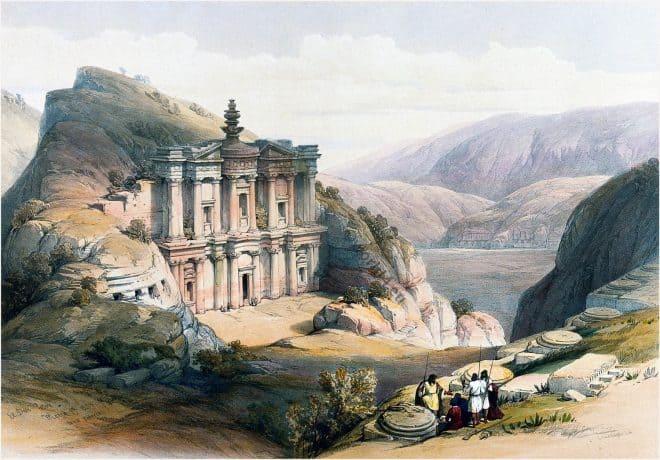 Petra, El Deir, الدير, Monastery, Ad Deir, David Roberts,
