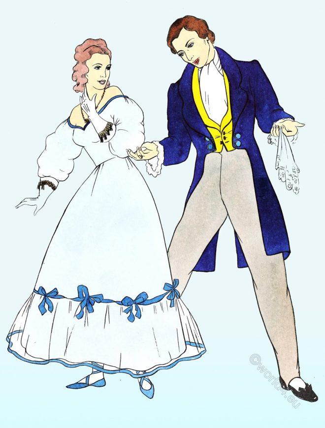 Costume, fashion, Empire, Romantic, Ballroom,
