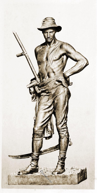 Mower, Thornycroft, Sculpture, model, Orazio Cervi,