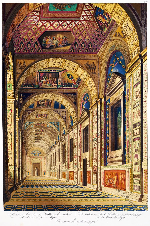 Raphaelo, Loggia, Interior, Vatican, Decorations, Artist, Renaissance,