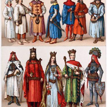 Clothing, costume, dress, Poland, fashion, middle ages,