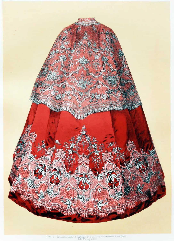 point, d'Alençon, Embroidered mantle, cape, victorian, France,
