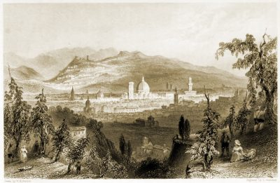 Florence, Fiesole, Italy, landscape,