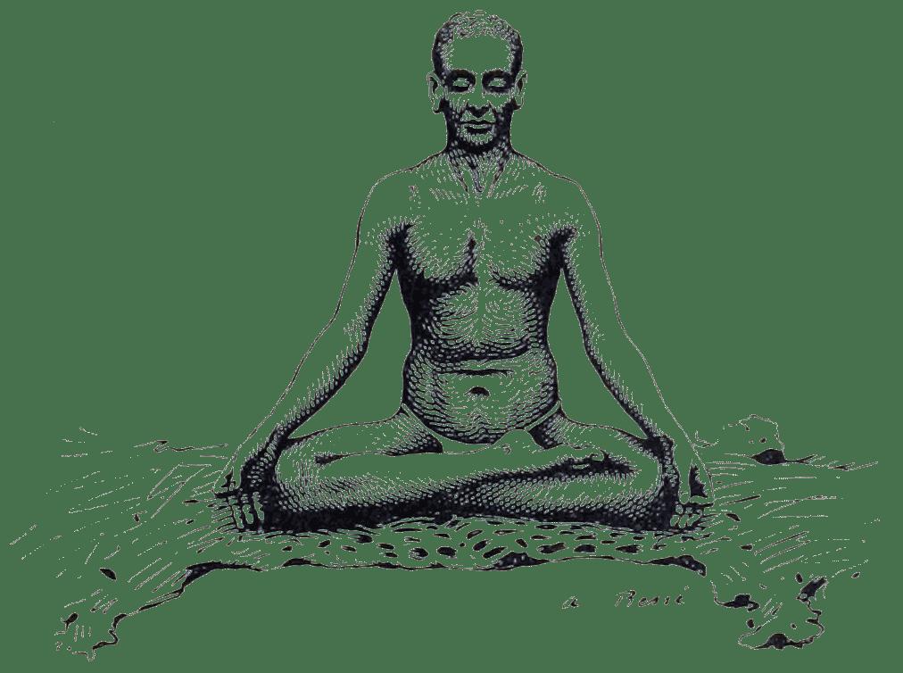 sadhu, yogi, india, Illustration