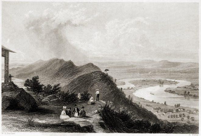 Mount, Holyoke, Northampton, Massachusetts, Oxbow, View