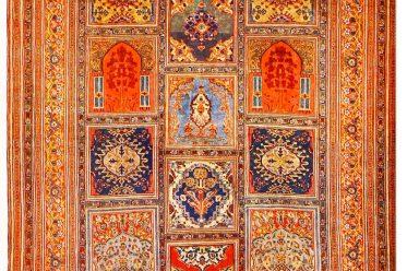 Antique, Tabriz, silk, rug, carpet, mosque,
