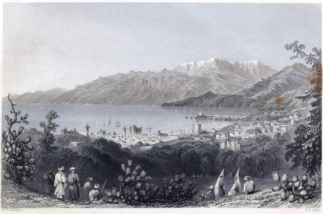 Beirut, Mount Lebanon, Historical, city view, James Baylis Allen, Levante, Travel,