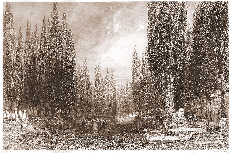 Thomas Allom, Scutari, Cemetry, Constantinople, Turkey
