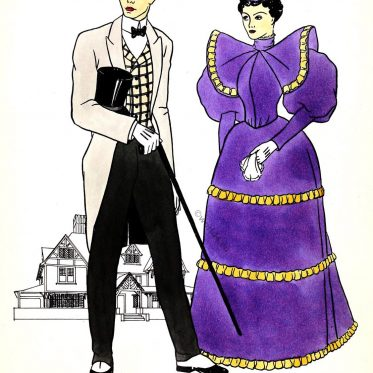 Gay, Nineties, Victorian, Fashion, 1890s,