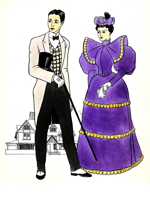 Gay, Nineties, Victorian, Fashion, 1890s,