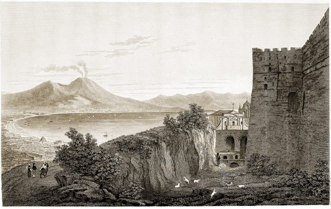 Naples, castle, St. Elmo, Italy, Travel,