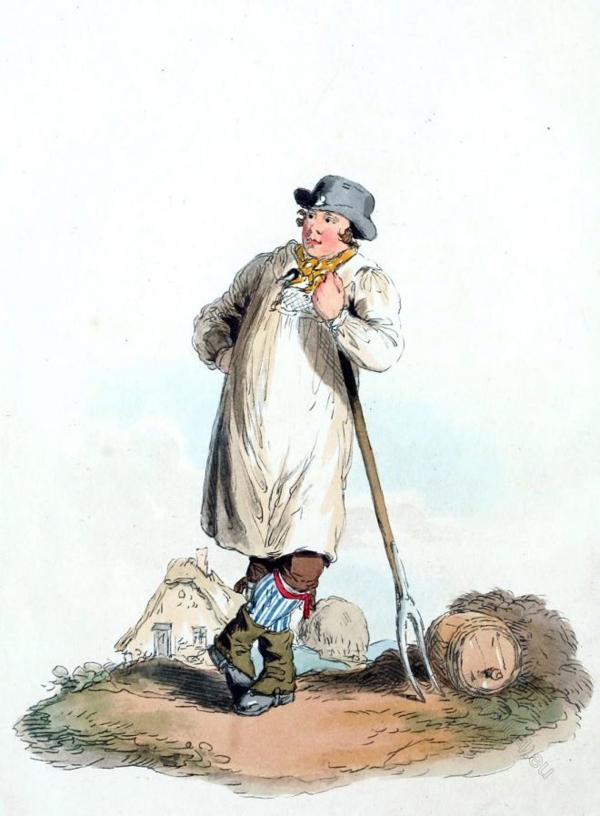 Dress, farmer, servants, England, laborers,
