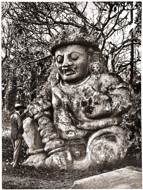 Singa-Sarie, sculpure, figure, temple, Java, Indonesia,