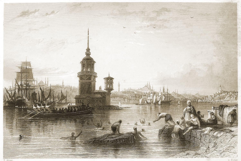 Kiz Koulasi, Istanbul, Constantinople, beacon, Leander's, Maiden's, Tower, Bosphorus