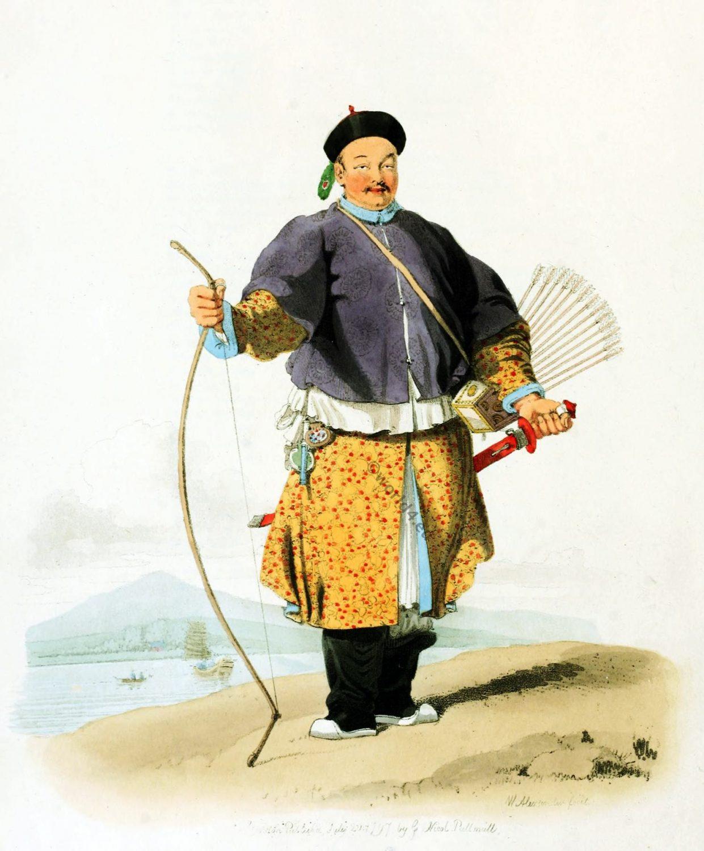 China, Military, costume, Mandarine, Nobleman, Van-ta-zhin,