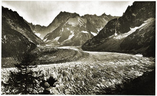 Glacier, Alpine, scenery, Mer, Glace, Chamouni, Savoy,