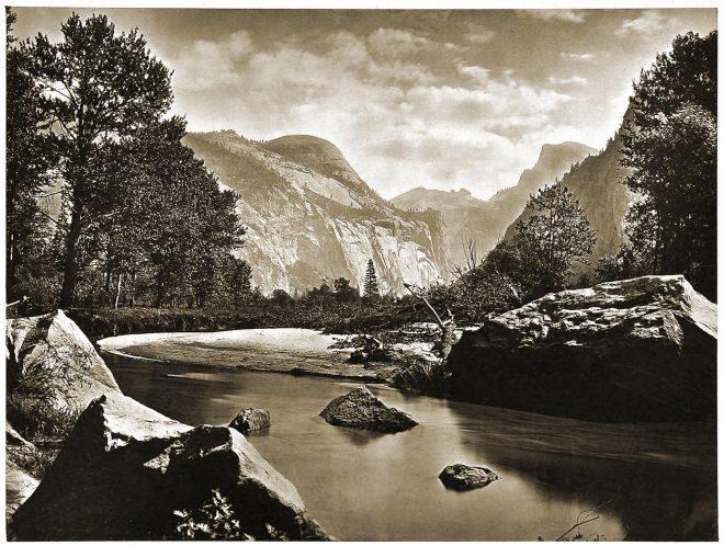 Merced, River, Yosemite, Valley, California,