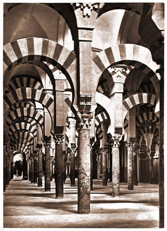 Al-Andalus, Cathedral, Interior, Mosque, Córdoba, Spain,