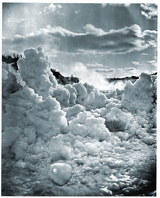 Niagara, river, winter, Woodbury