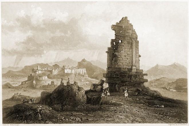 Monument, Philopappus, Athens, Greece, ancient, Greek, mausoleum