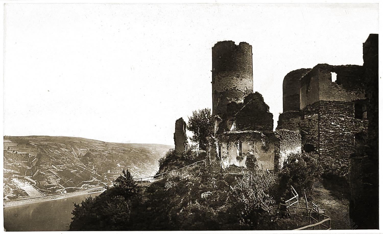 Ruins, Schönburg, castle, Oberwesel, Rhine