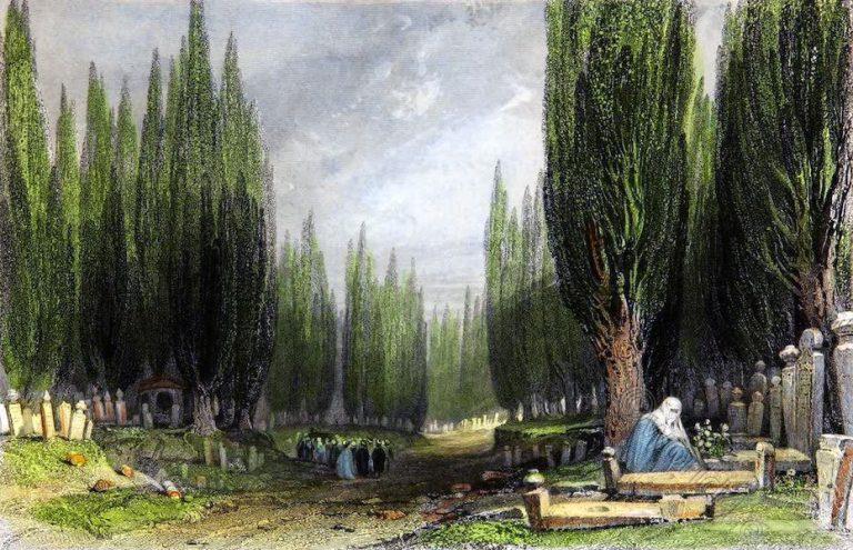 Cemetery, Scutari, necropolis, Istanbul, Constantinople, Turkey,
