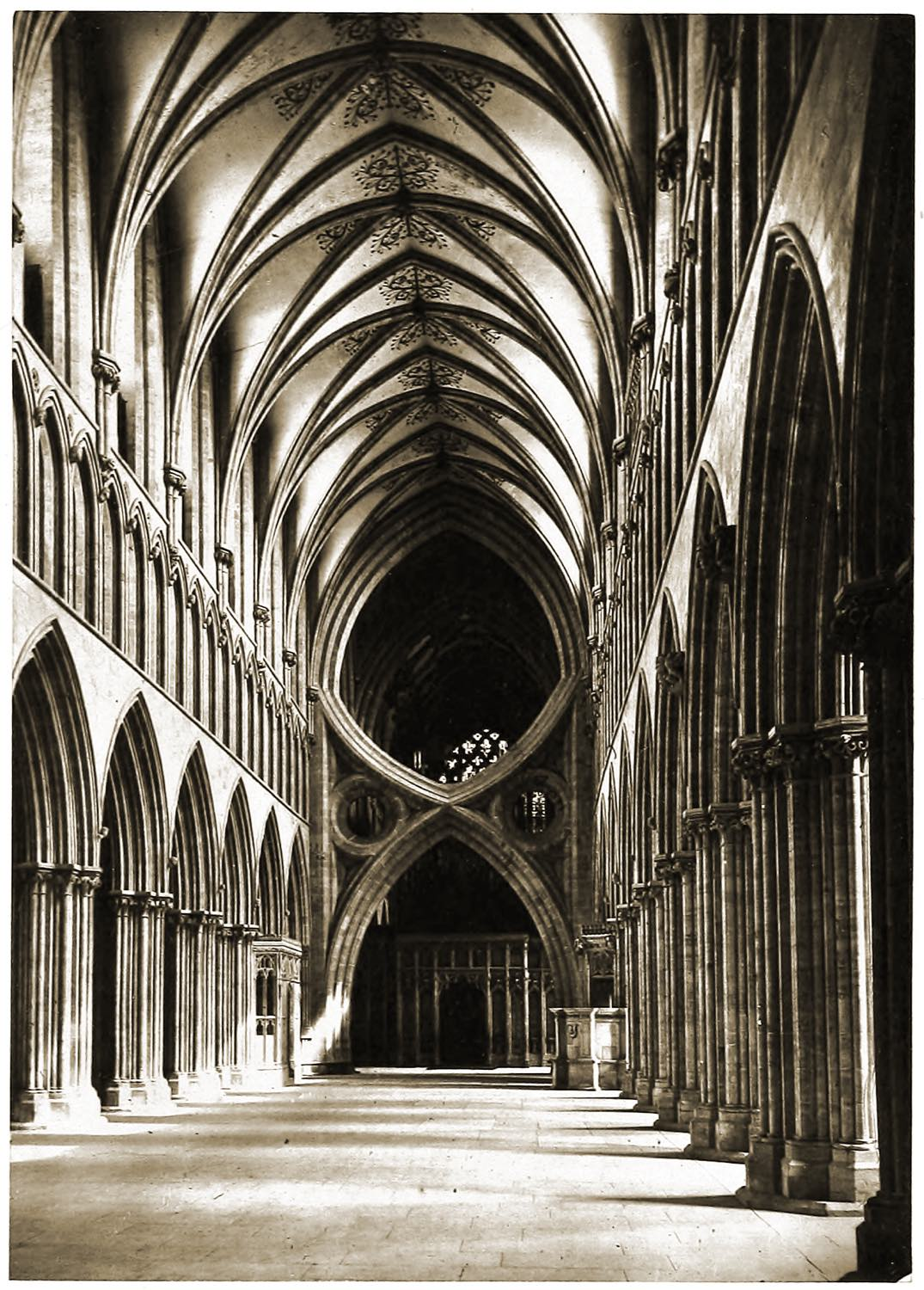 Nave, Wells Cathedral, England, Gothic, architecture,