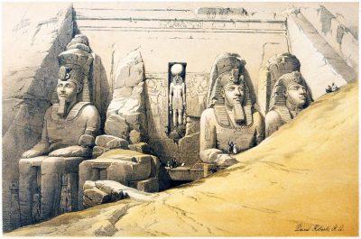 Abu Simbel, Aboo-Simbel, Great Rock Temple, Egypt, David Roberts, Ancient, Architecture, Sculpture,