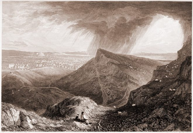 Edinburgh, View, Arthur's Seat, Robert Batty,
