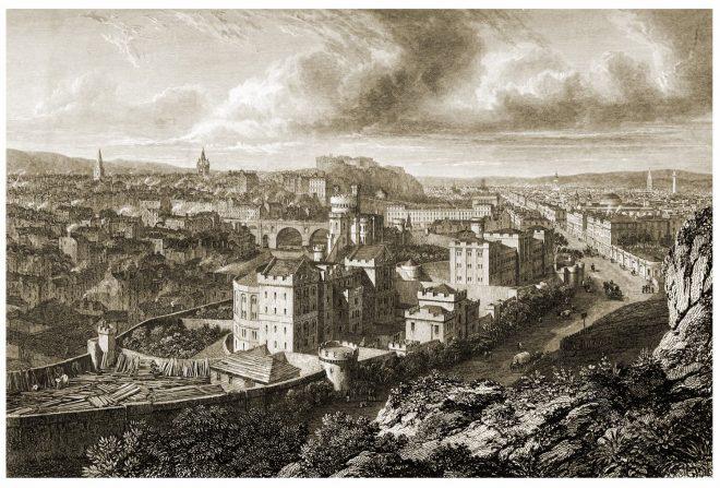 Edinburgh, Calton Hill, comprehensive, view, Robert Batty,