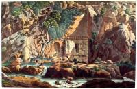Castalian, Spring, Delphi, Ancient, Greece, culture, Edward Dodwell,