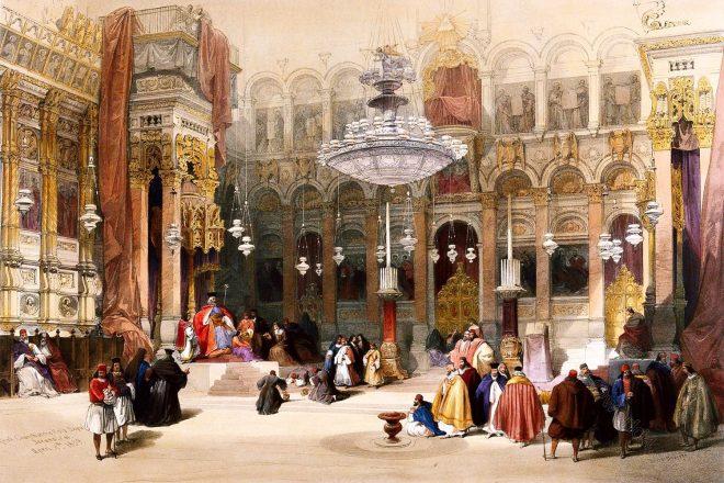 Greek, Church, Holy Sepulchre, Jerusalem, David Roberts