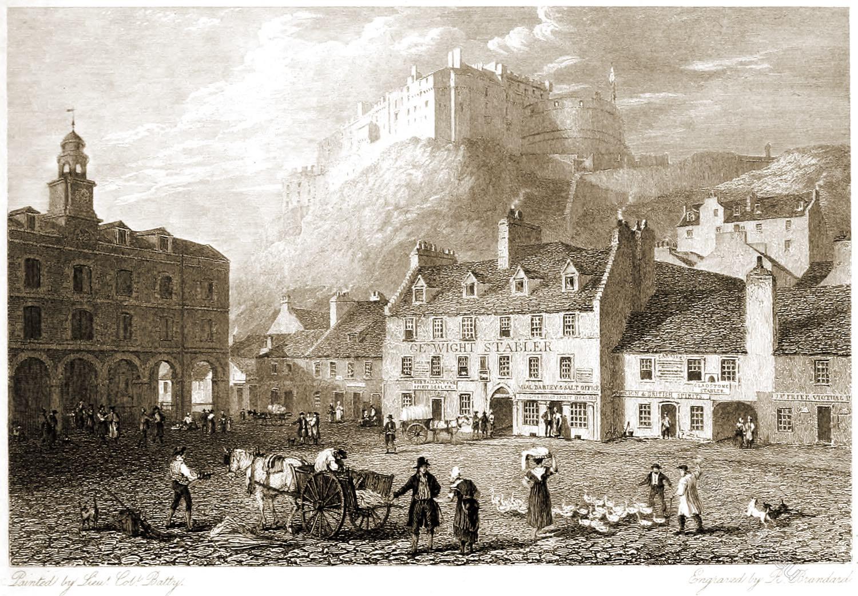 Edinburgh, Castle, Grass Market, Robert Batty,