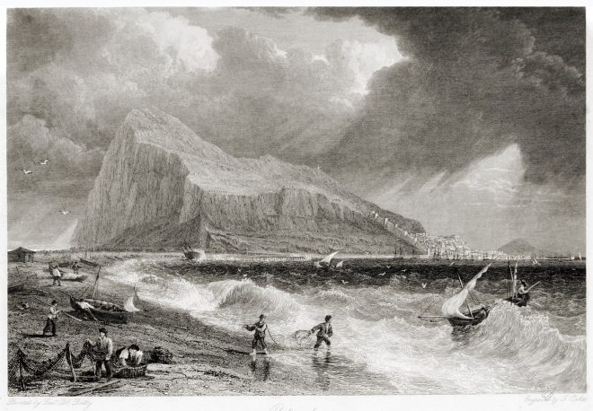 Gibraltar, Bay Side, Panorama, rock, travel, Robert Batty,