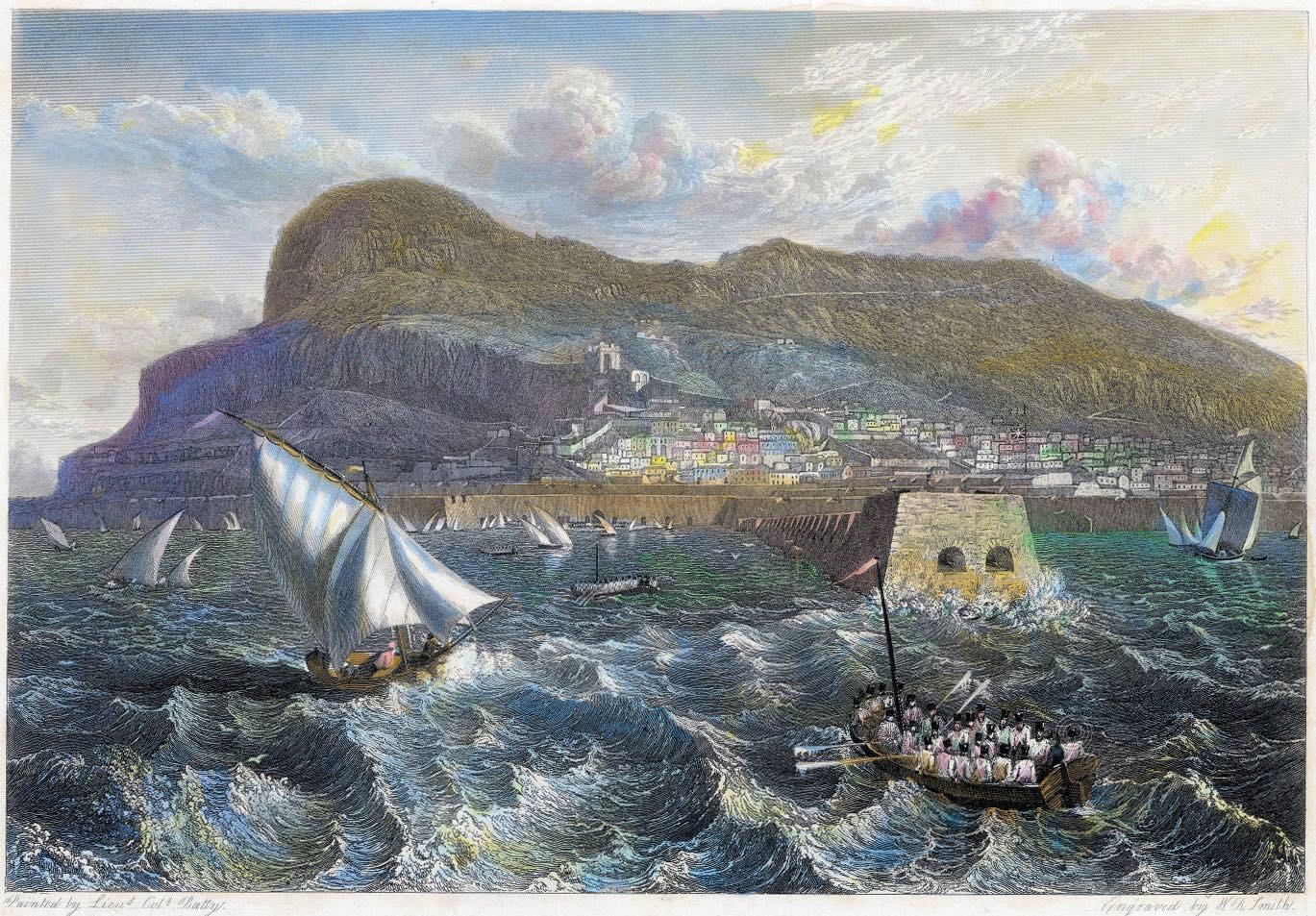 Gibraltar, old mole, anchorage, travel, Robert Batty,