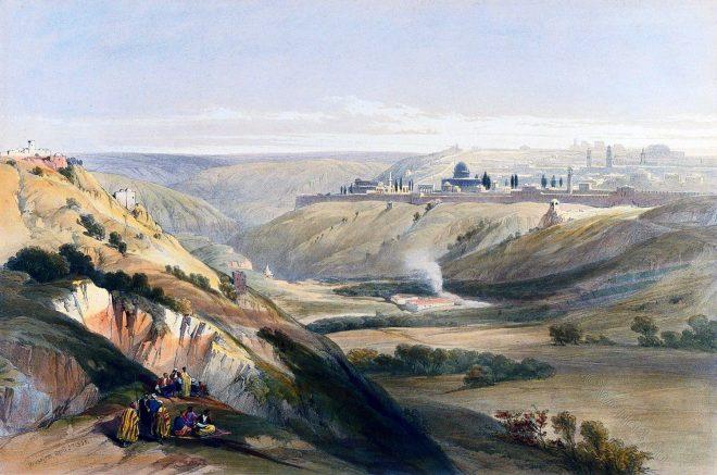 Jerusalem, Bethany, Holy Land, David Roberts, Travel, Israel,